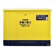 上海伊藤15kw天然气发电机图片价格